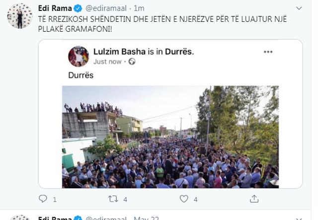 Basha grumbulloi qytetarët në Durrës, reagon Rama!