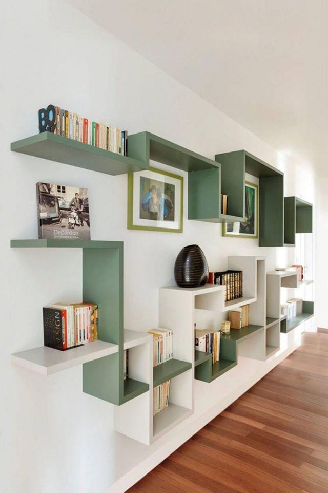 Disa ide për rafte librash në mur!