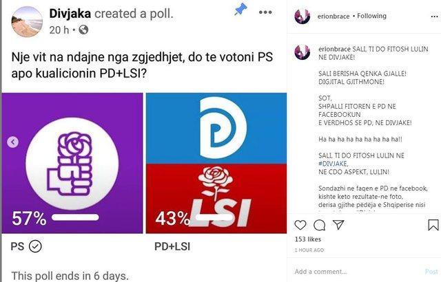 Braçe publikon sondazhin: Saliu do të fitojë Lulin në