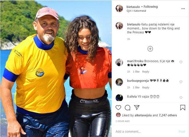 Bieta Sulo, poston foton e Alban Dudushit dhe vajzës: Përkuluni para
