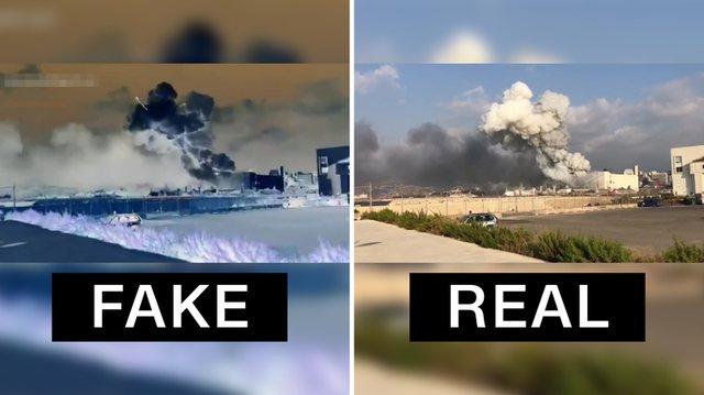 Fake News/ Nuk ka raketë në videot e Bejrutit!