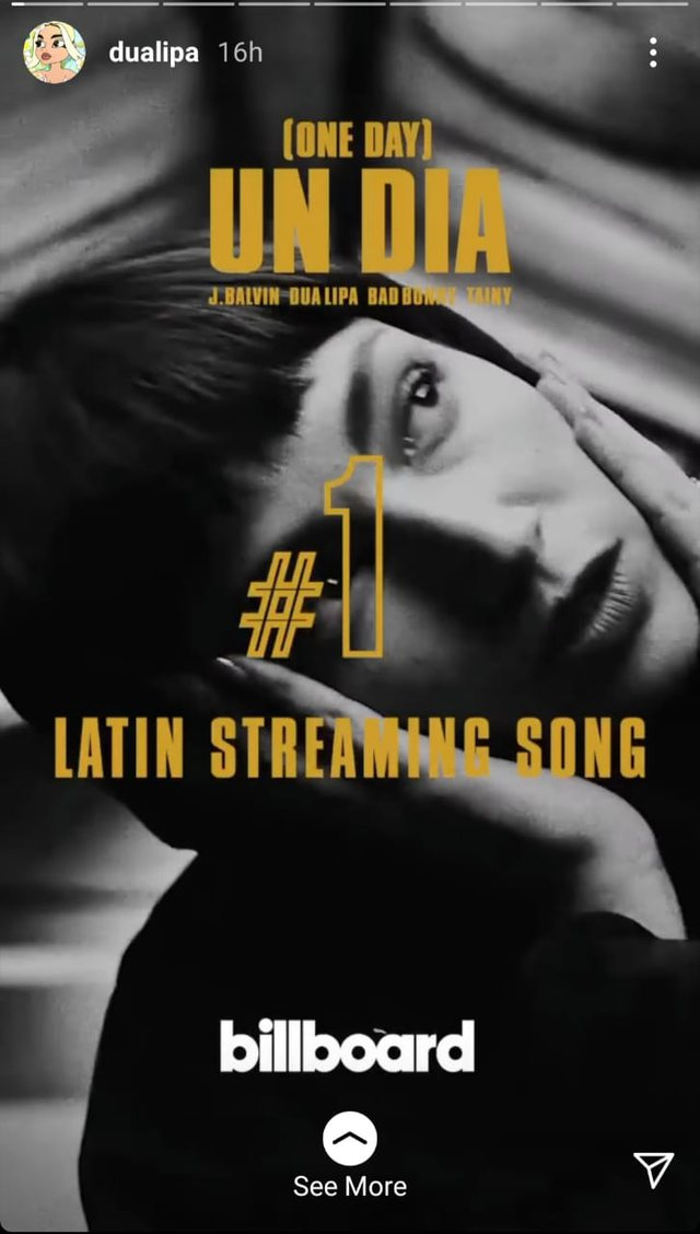 Dua Lipa pushton Top Listat latine