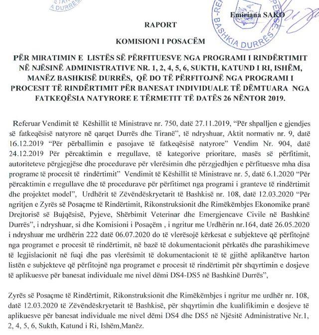 Faksimile/ Basha: Asnjë ndihmë për strehim për familjet e