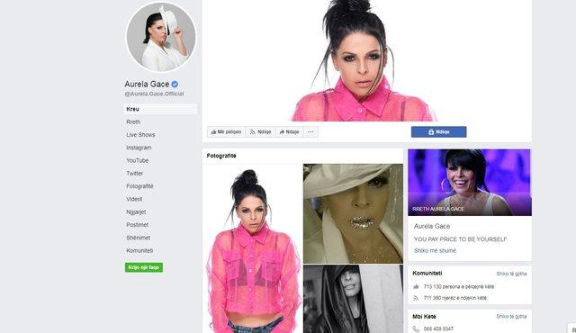 Aurela Gaçes i vjedhin faqen e Facebook-ut