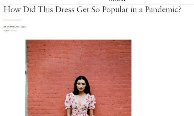 Si u bë kaq i famshëm në kohë pandemie, fustani i kreatores