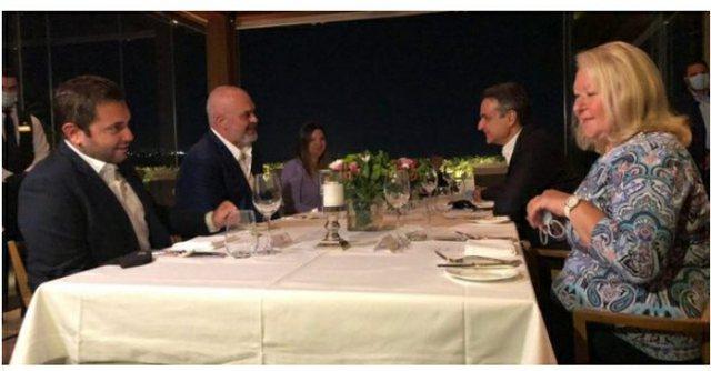 Foto nga darka Rama-Mitsotakis