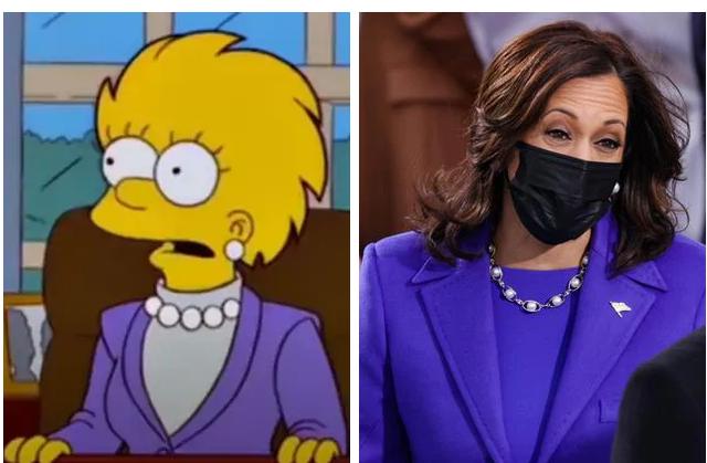 Simpsons parashikuan veshjen e Kamala Harris në ceremoninë e betimit!