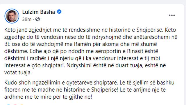 Basha: Situata në Rinas është dështim i Ramës,