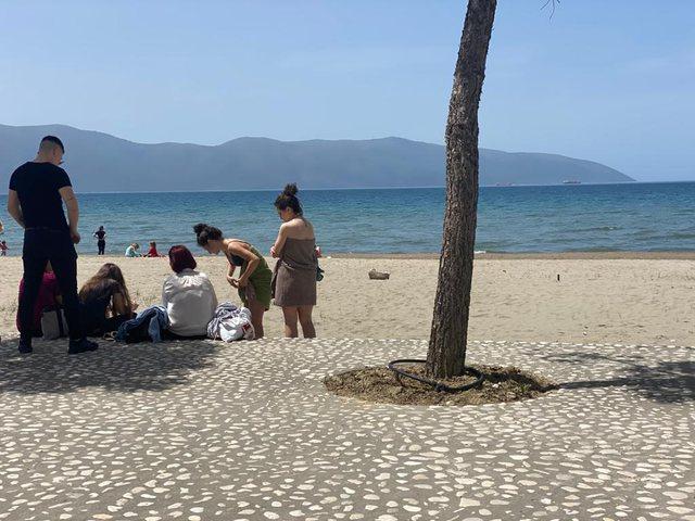 Vlorë, të gjithë në plazh