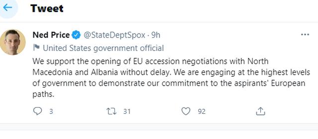 DASH: Mbështesim hapjen e negociatave të BE me Shqipërinë!