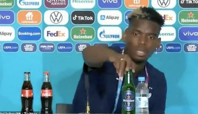 Paul Pogba në hapat e Ronaldos, heq shishen e birrës nga tavolina!