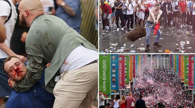 Euro 2020/ Situatë kaotike para stadiumit në Londër, tifozët