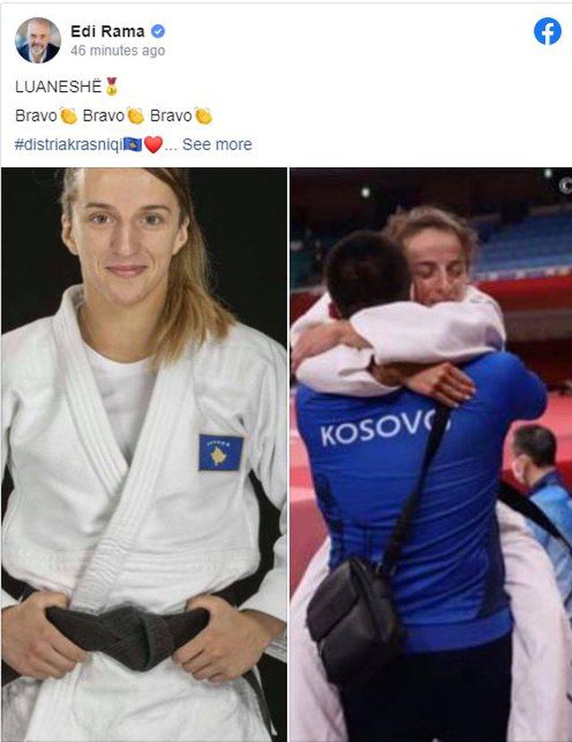 Xhudistja nga Kosova merr medaljen e artë, Rama: Luaneshë!