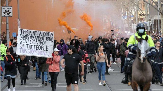 Australia në protesta kundër masave antikovid!
