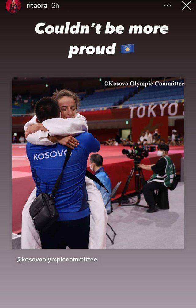 Fitoi medaljen e artë në Tokio2020/ Rita Ora: Pafund krenare për