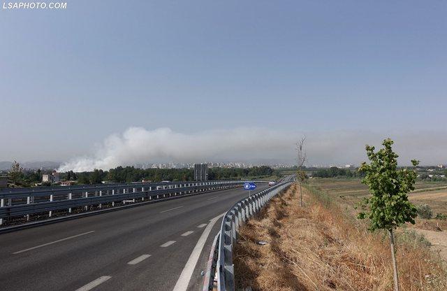 Foto/ Zjarri në landfillin e Fierit, qyteti mbulohet nga tymi!