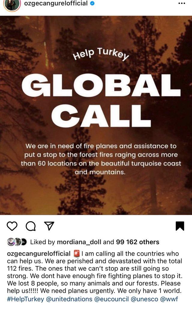 Yjet turq bëhen bashkë me një thirrje për botën: Ju