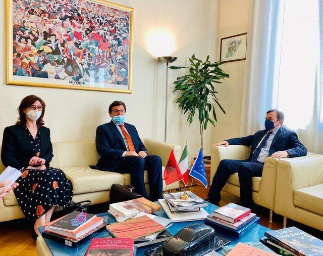 Mazi takime me zyrtarë të lartë italianë: Mbështetje e