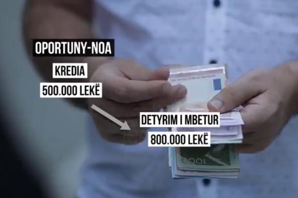 Top Story/ Denoncimi: Për 800 mijë lekë të vjetra kredi, iu