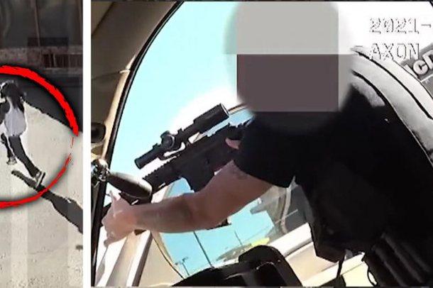 Rrëmben foshnjën dhe i drejton armën, polici amerikan vret