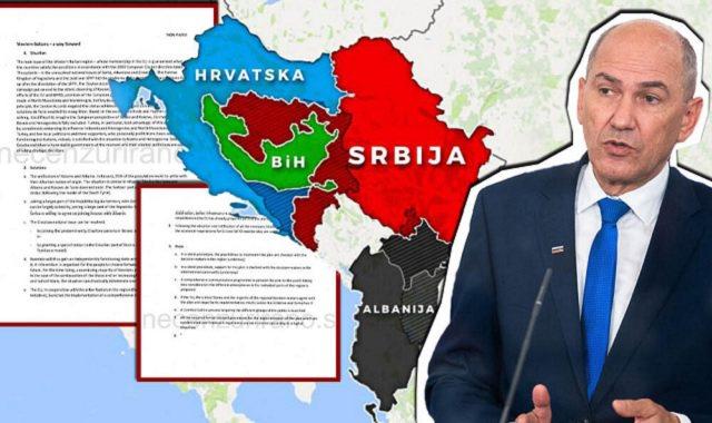 Del dokumenti/ Si do të bashkohet Kosova me Shqipërinë, harta e