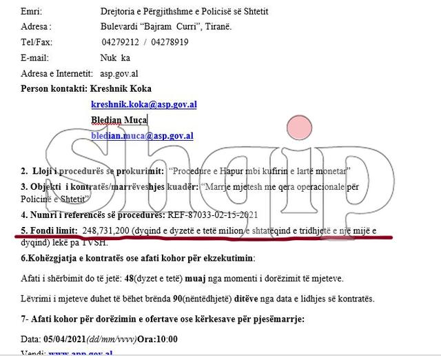 Policia / 70 mln euro tendera për 4 muaj, por krimi lulëzon