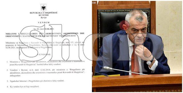 Bunkerizimi i Parlamentit/ I mbyllet goja medias, vetëm RTSH e ATSH