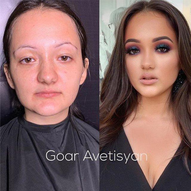 Make up-i bën mrekullinë, këto transformime do ju lënë