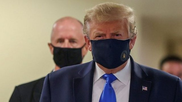 Për herë të parë që kur shpërtheu Covid-19, Trump