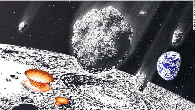 800 milionë vite më parë, një dush masiv asteroid goditi