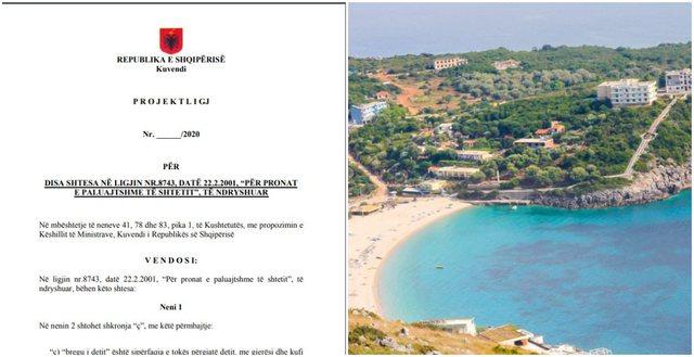 Shtetëzimi i bregdetit, qeveria çon në Parlament ligjin, ja