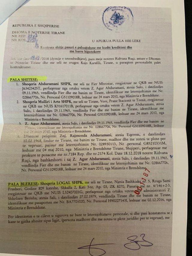 Shkëlzen Berisha drejt SPAK, zbulohet kontrata e blerjes së