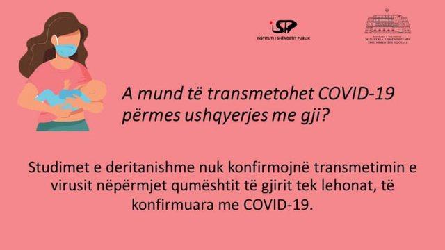 ISHP: Nënat me Covid-19 mund t'i ushqejnë fëmijët e