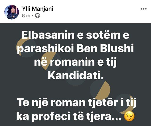 """Vrasjet në Elbasan/ Manjani: Parashikimi i librit """"Kandidati"""""""