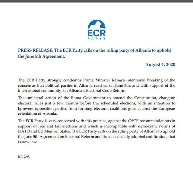 Konservatorët europianë thirrje qeverisë: Ndryshimet kushtetuese