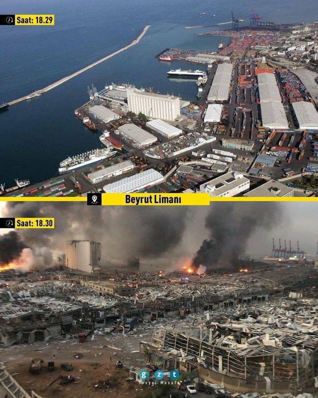 Dalin fotot/ Si dukej Bejruti 1 minutë para shpërthimit të