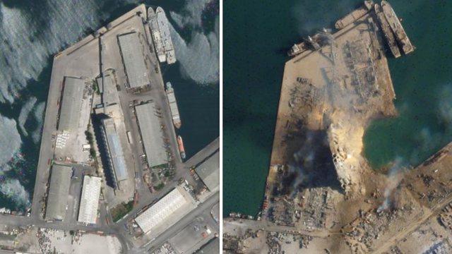 Pamjet me dron tregojnë sa i fuqishëm ishte shpërthimi në