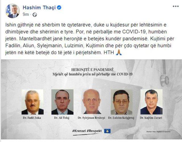 Poston fotot e 5 mjekëve që humbën jetën nga Covid-19,