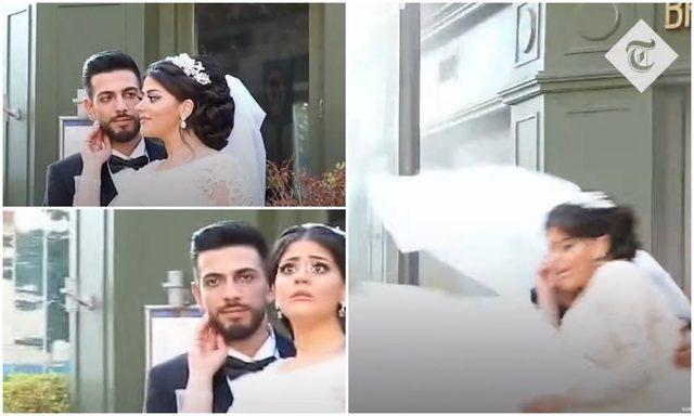 Shpërthimi në Bejrut/ Një tjetër video dasme bëhet