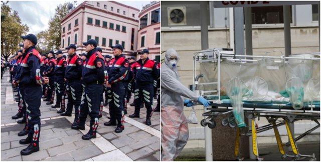 Covid trondit Policinë, 6 efektivë të vdekur dhe rreth 200