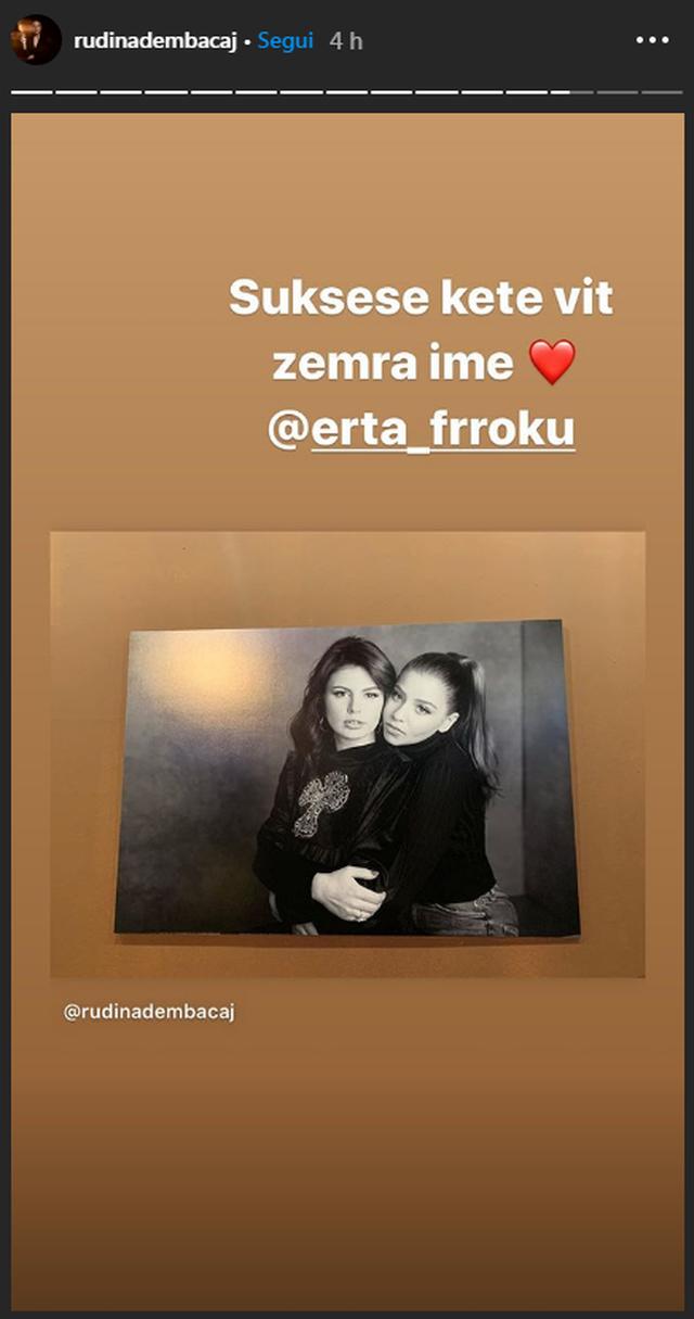 Vajza e Mark Frrokut nisi shkollën, Rudina poston foton me të: Zemra