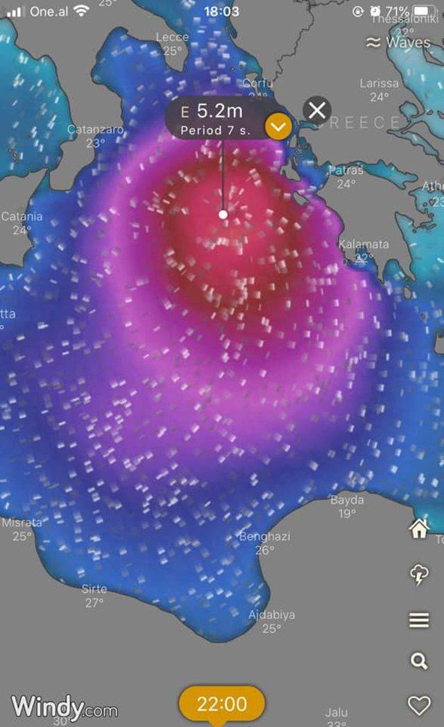 Stuhia që do godasë Mesdheun/ Drejtoria Detare bën njoftimin e