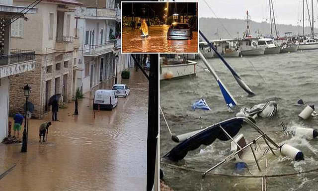 Pamje surrale nga cikloni në Greqi, valët e mëdha