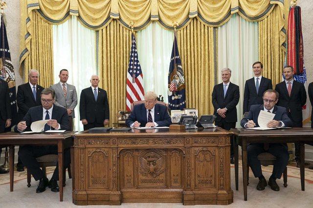 Donald Trump flet në OKB për marrëveshjen Kosovë-Serbi