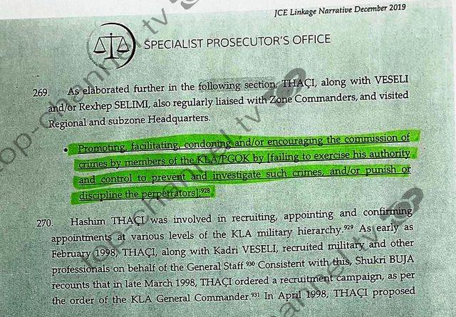 Dosja e Hagës! Akt-akuza e detajuar ndaj Hashim Thaçit