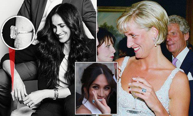 Meghan Markle po përdor bizhuteritë e Lady Diana-s, fotot