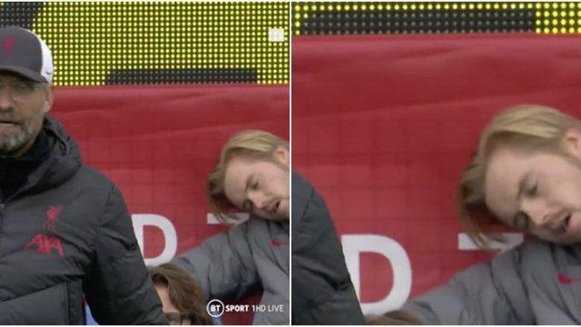 Pamjet e pazakonta/ Portieri rezervë i Liverpool kapet duke fjetur në