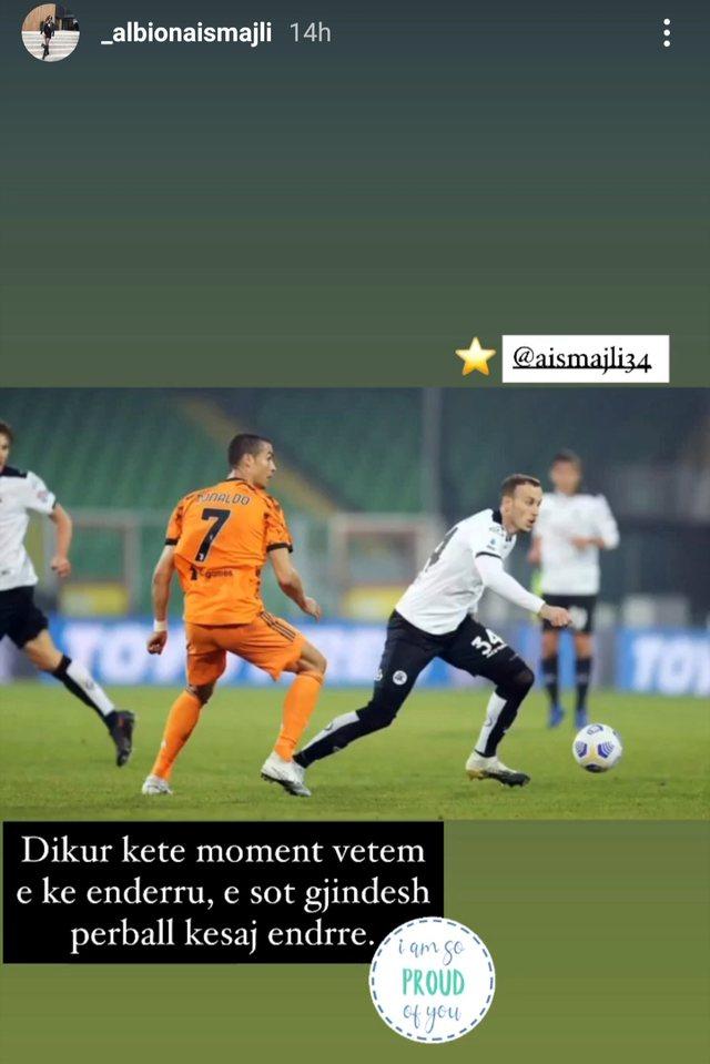 Fotoja e mbrojtësit shqiptar me Cristiano Ronaldon që u bë virale