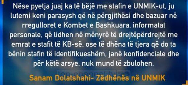 UNMIK mban sekret emrat e shqiptarëve që bashkëpunuan në