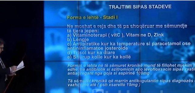 Zbulohet protokolli i trajtimit të Covid në Shqipëri, Brataj jep